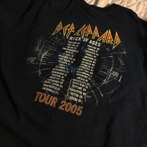 71a30108e722 Gildan Shirts - DEF LEPPARD Vintage Tour Tee Navy XL